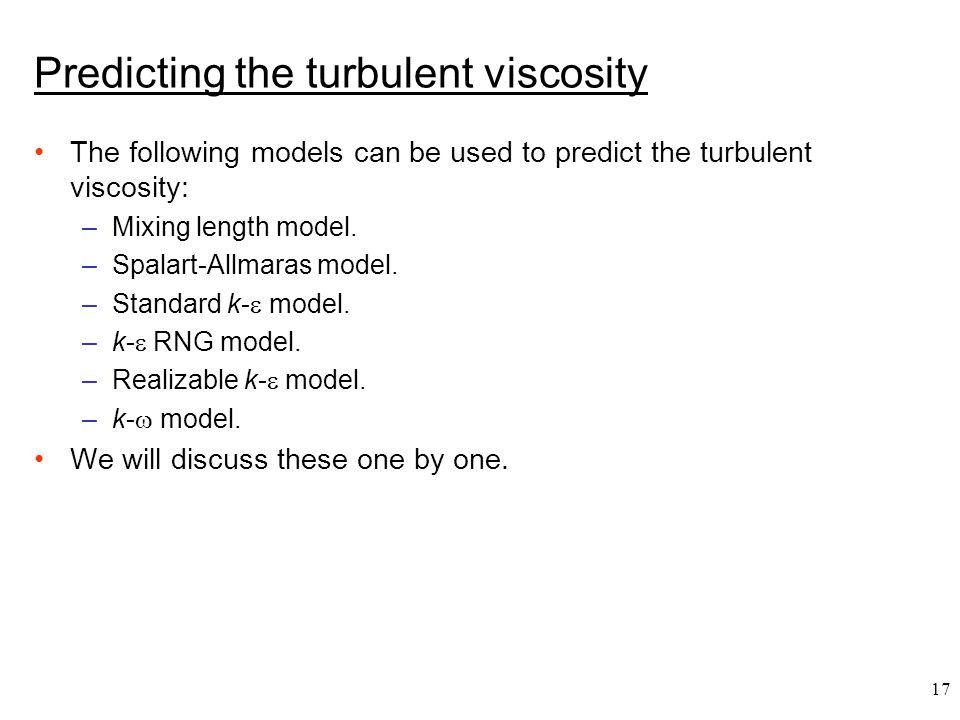 Predicting the turbulent viscosity