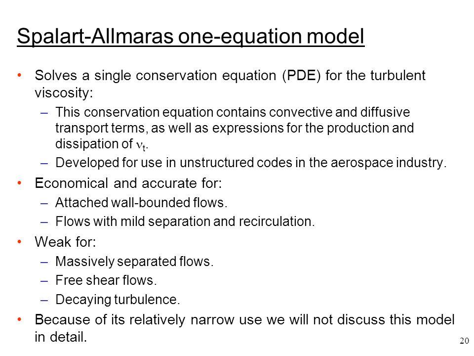 Spalart-Allmaras one-equation model