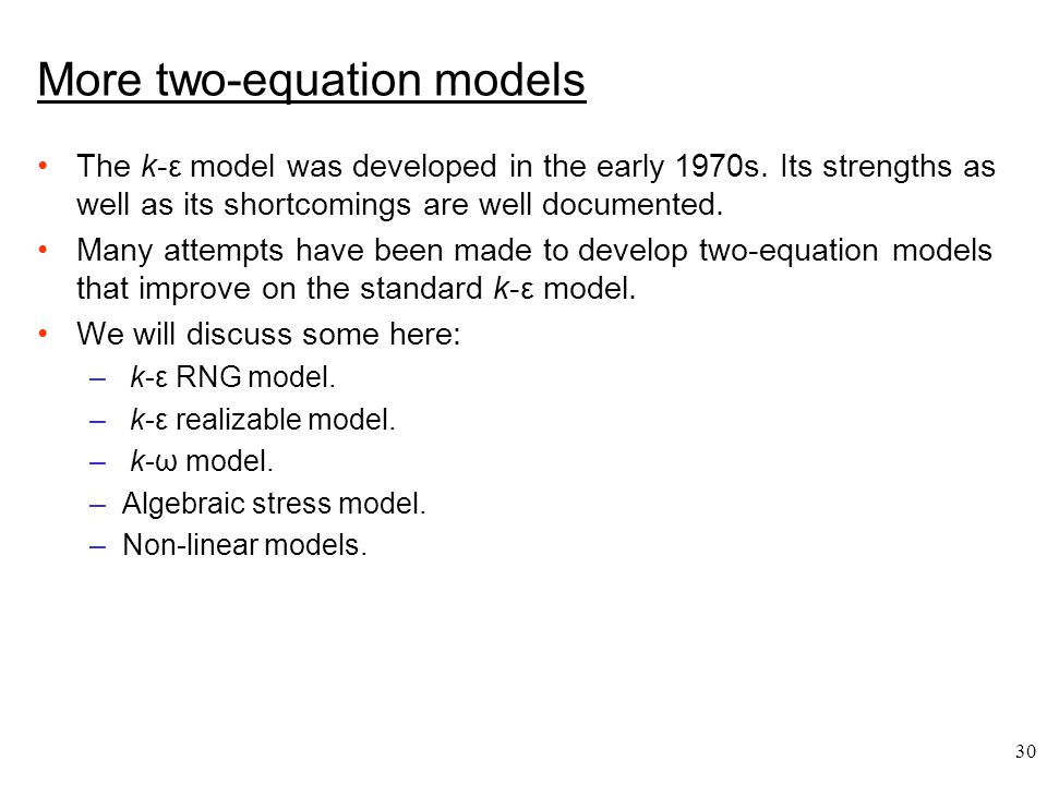More two-equation models