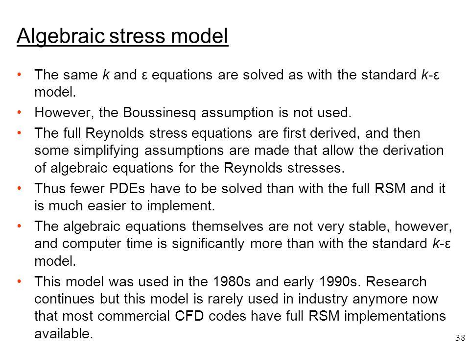 Algebraic stress model