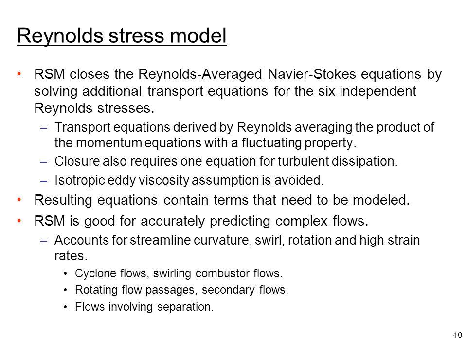 Reynolds stress model