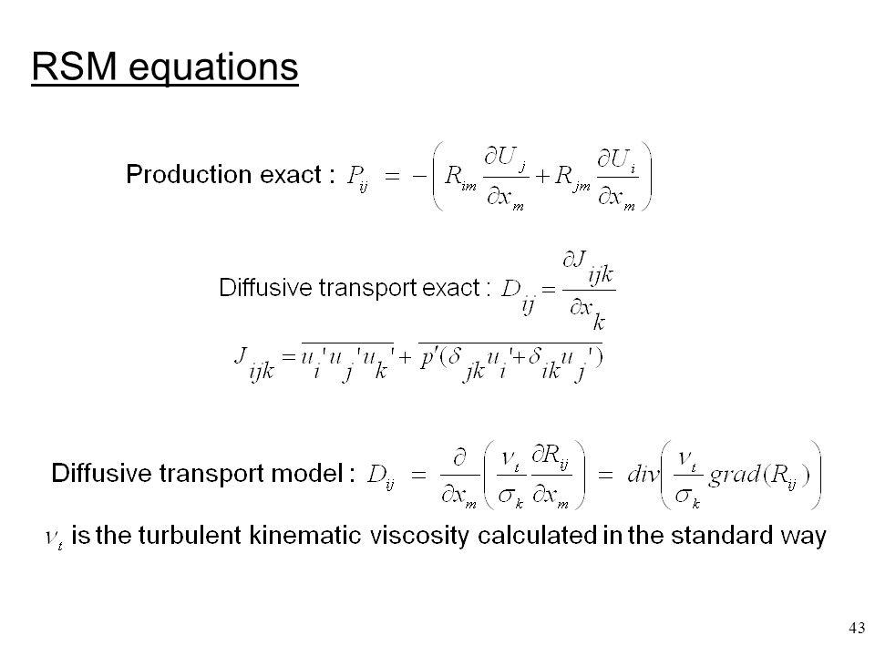 RSM equations