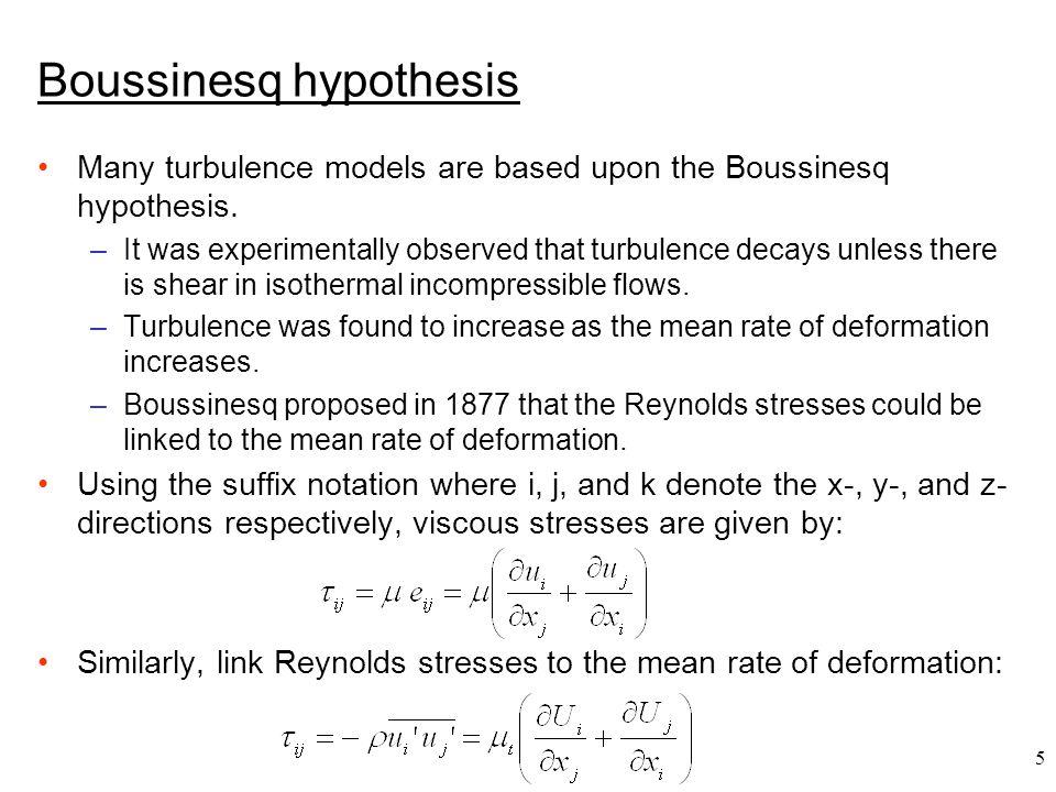 Boussinesq hypothesis
