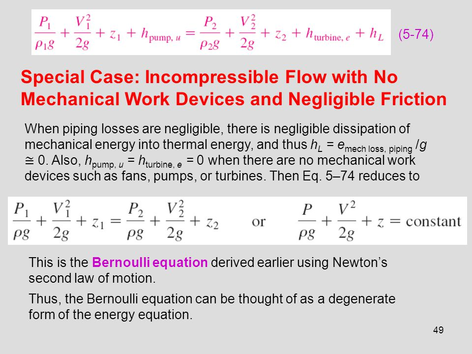Special Case: Incompressible Flow with No
