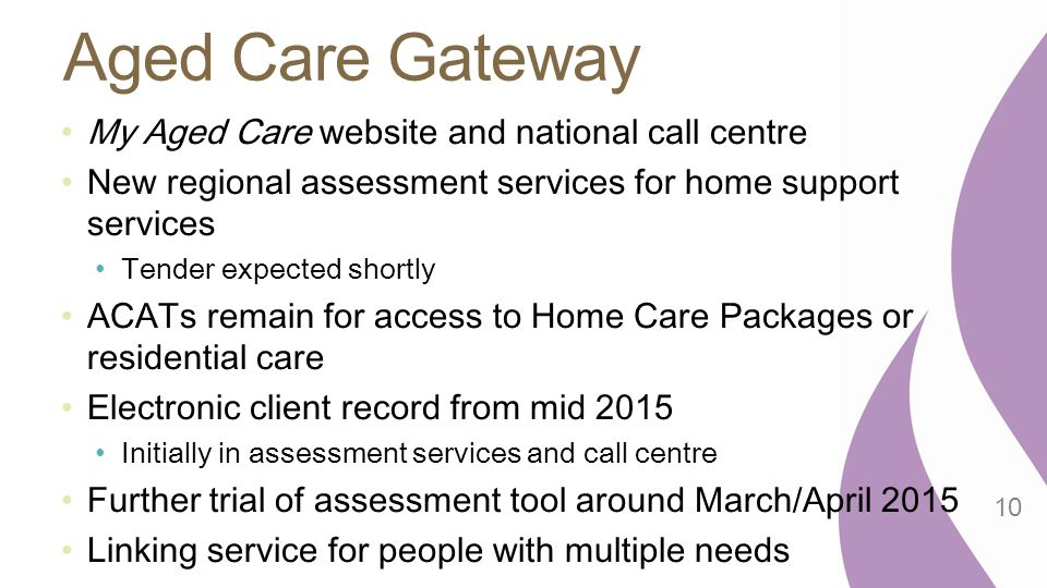 Aged Care Gateway My Aged Care website and national call centre