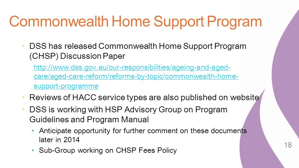 Commonwealth Home Support Program