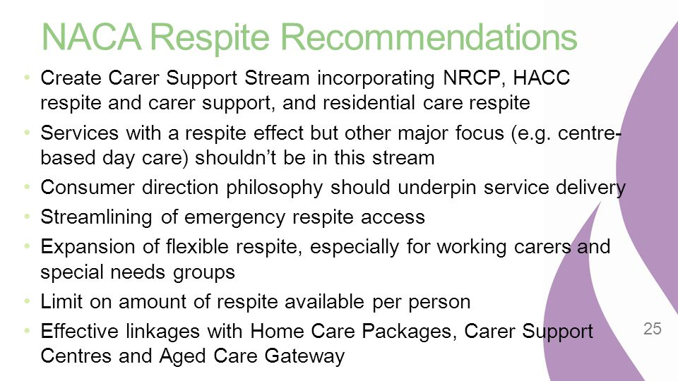 NACA Respite Recommendations