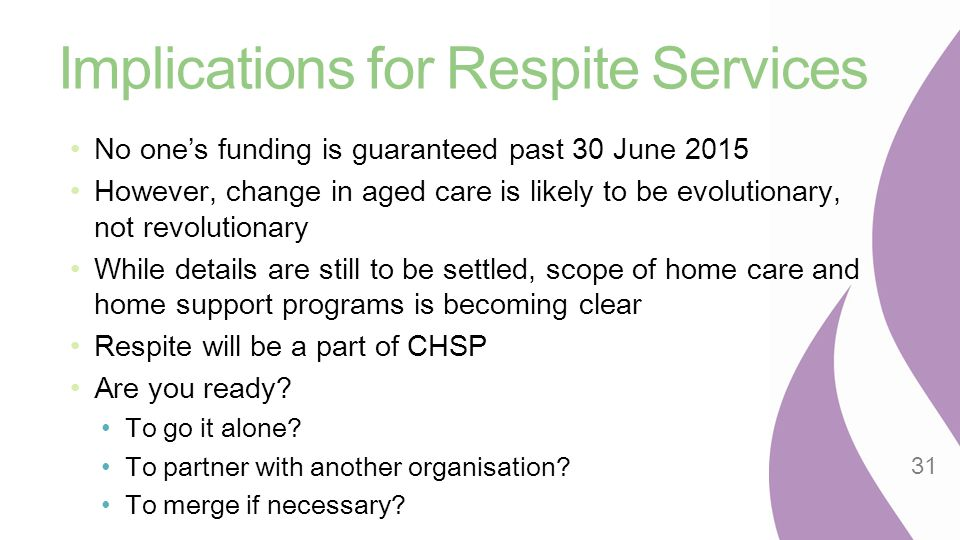 Implications for Respite Services