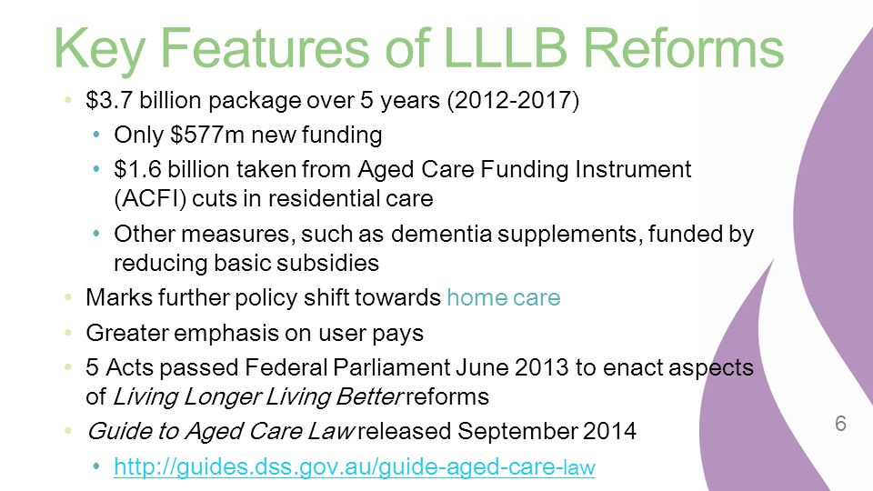 Key Features of LLLB Reforms