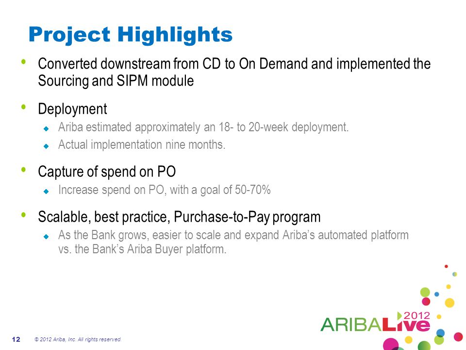 Project Highlights Converted downstream from CD to On Demand and implemented the Sourcing and SIPM module.