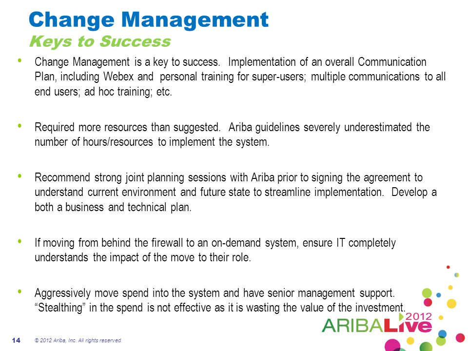 Change Management Keys to Success