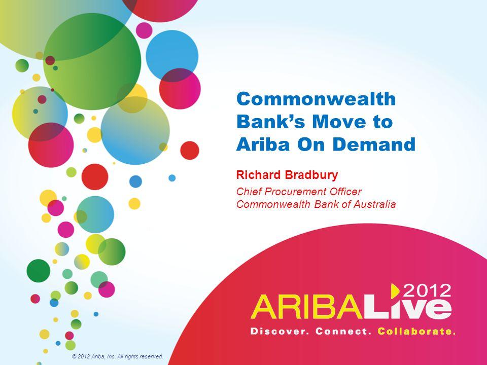 Commonwealth Bank's Move to Ariba On Demand