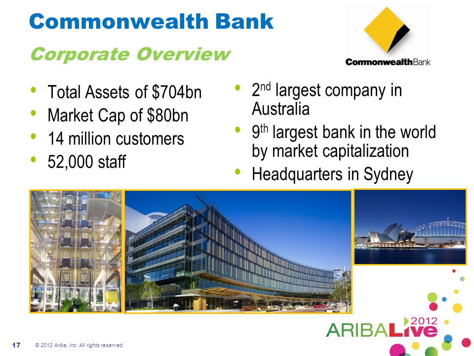Commonwealth Bank Corporate Overview