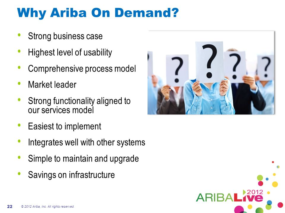 Why Ariba On Demand Strong business case Highest level of usability