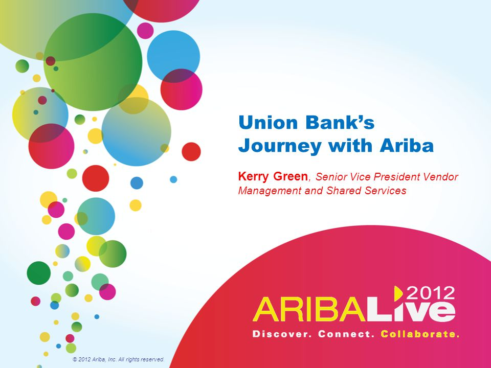 Union Bank's Journey with Ariba