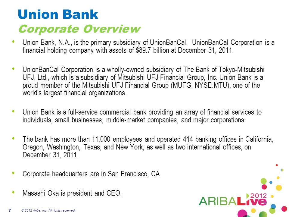 Union Bank Corporate Overview
