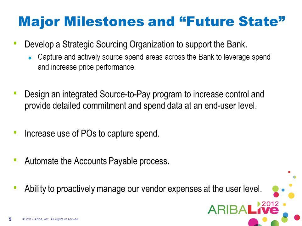 Major Milestones and Future State