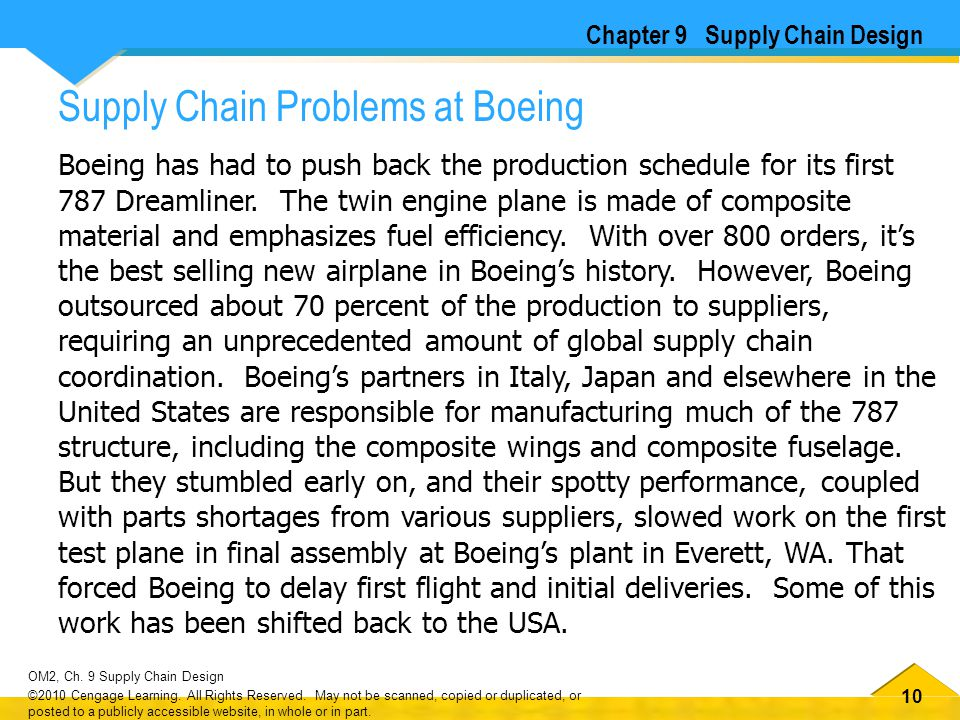 Chapter 9 Supply Chain Design