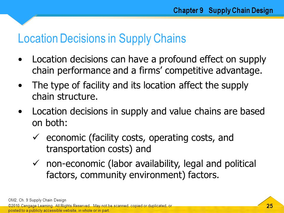 Location Decisions in Supply Chains