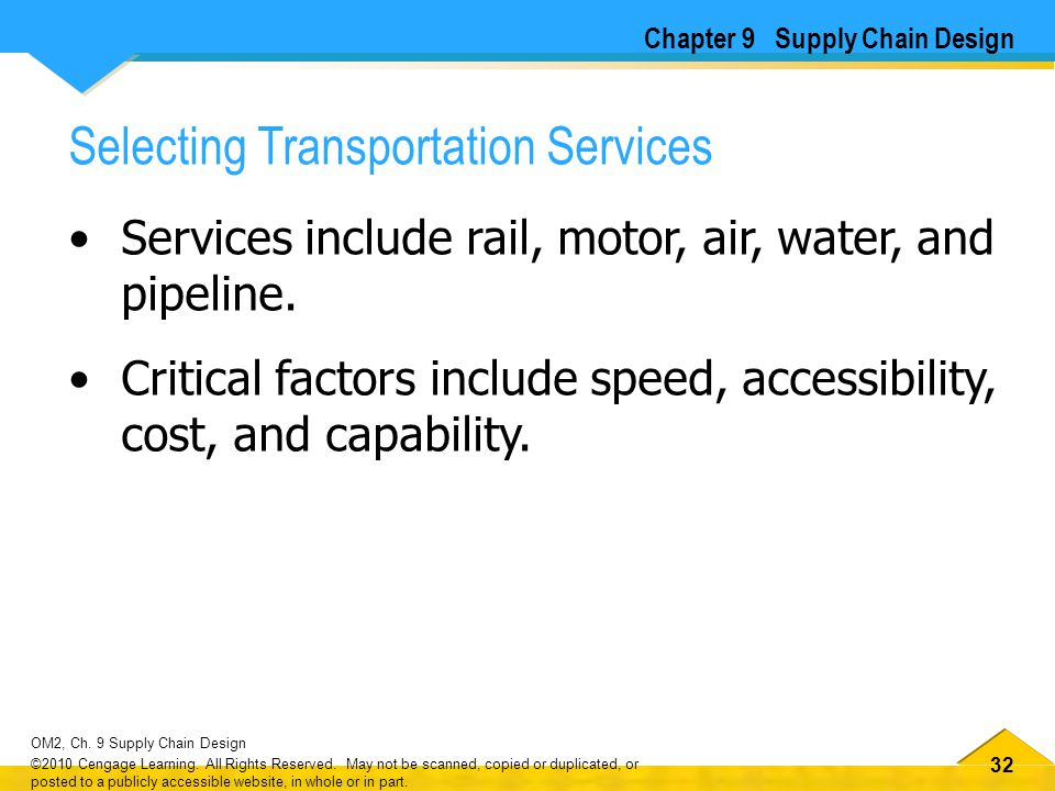 Selecting Transportation Services