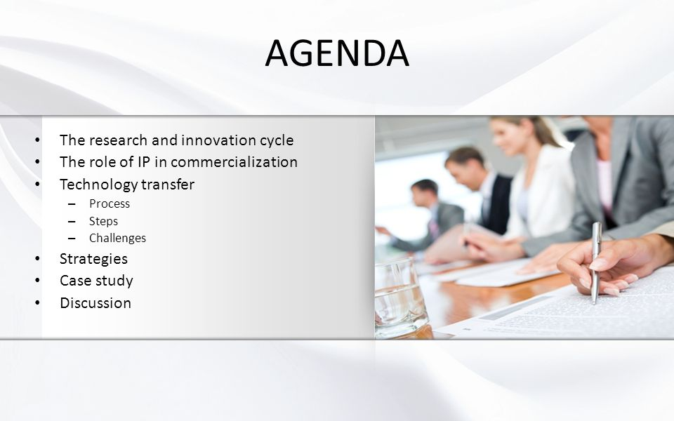 AGENDA The research and innovation cycle