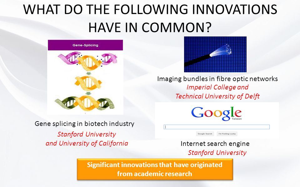 WHAT DO THE FOLLOWING INNOVATIONS HAVE IN COMMON