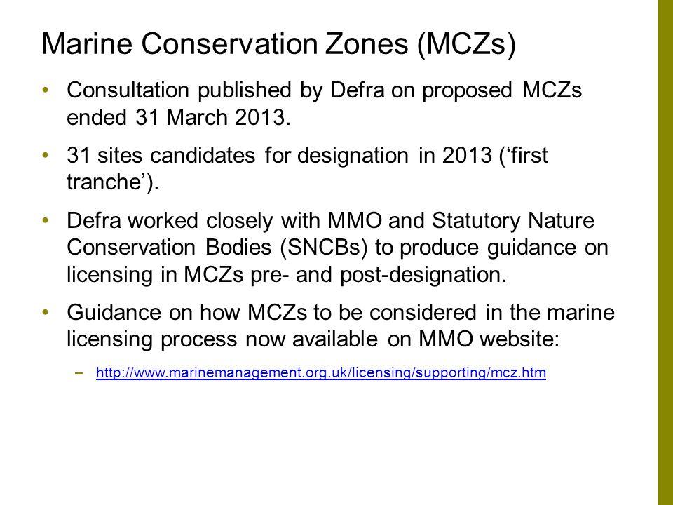 Marine Conservation Zones (MCZs)