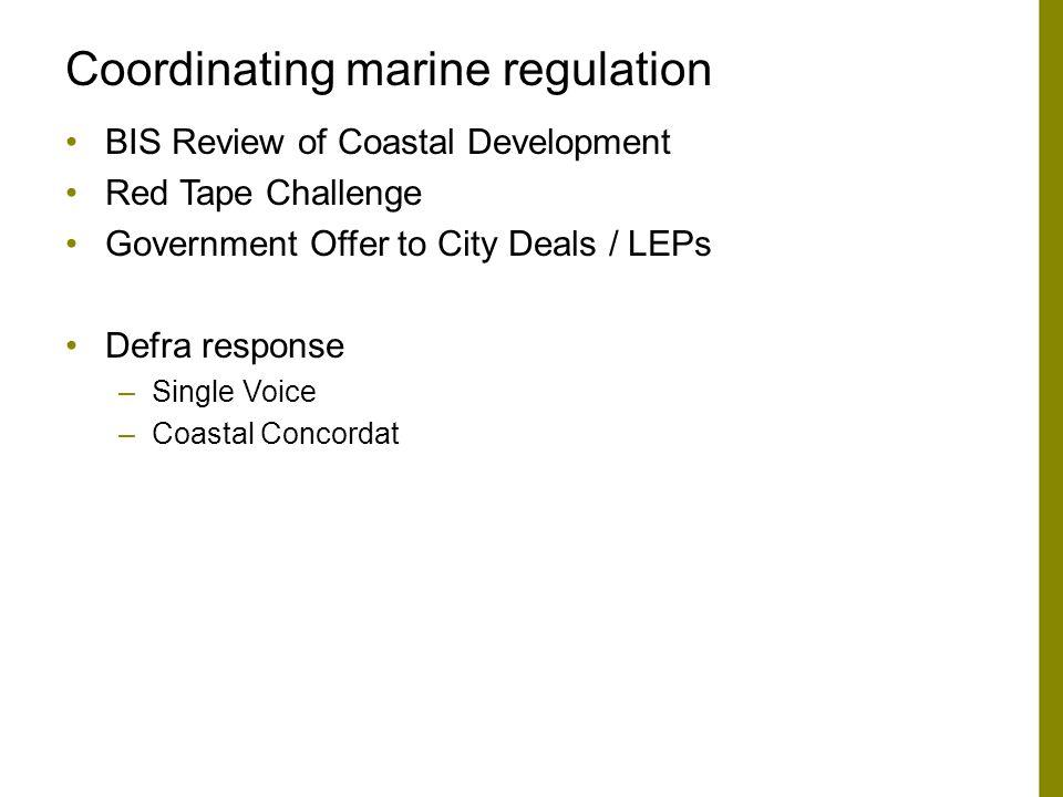 Coordinating marine regulation
