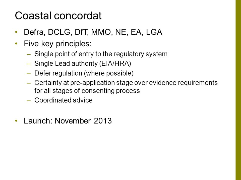 Coastal concordat Defra, DCLG, DfT, MMO, NE, EA, LGA