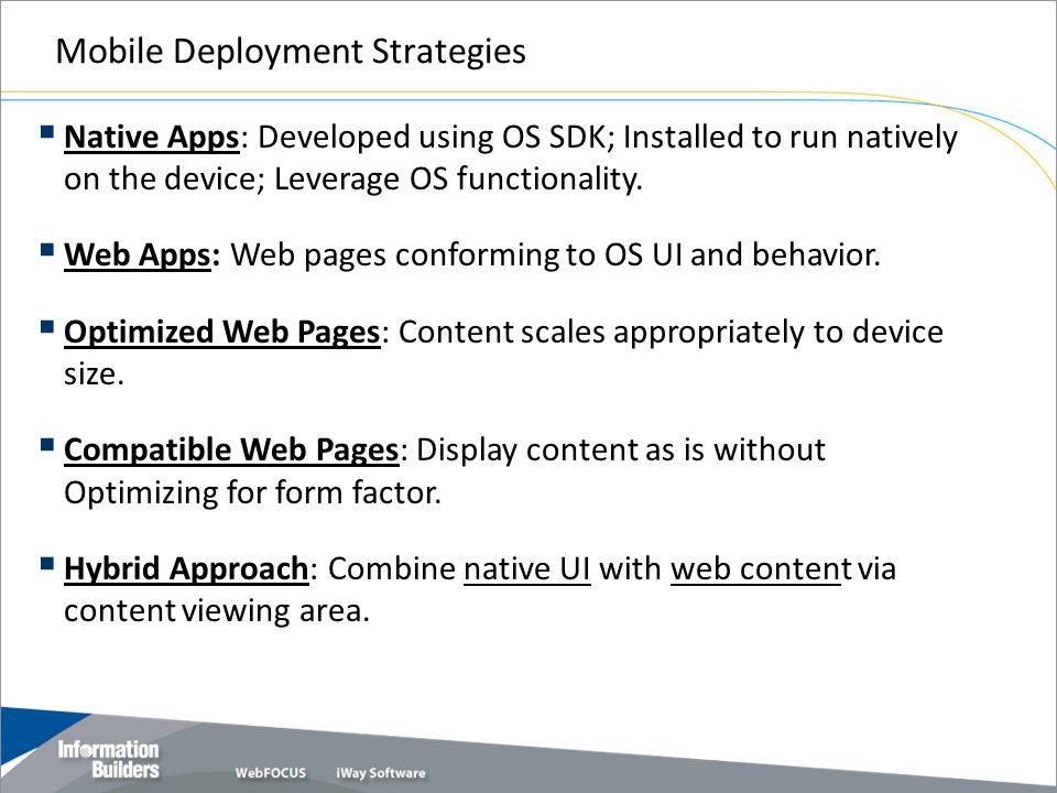 Mobile Deployment Strategies