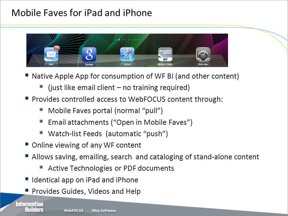 Mobile Faves for iPad and iPhone