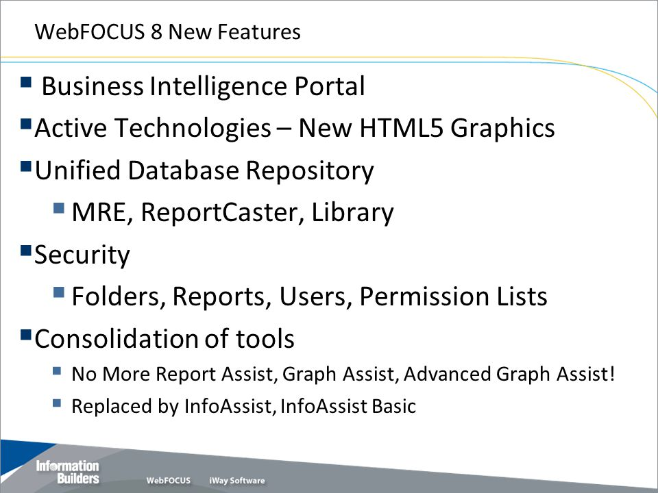 Business Intelligence Portal Active Technologies – New HTML5 Graphics