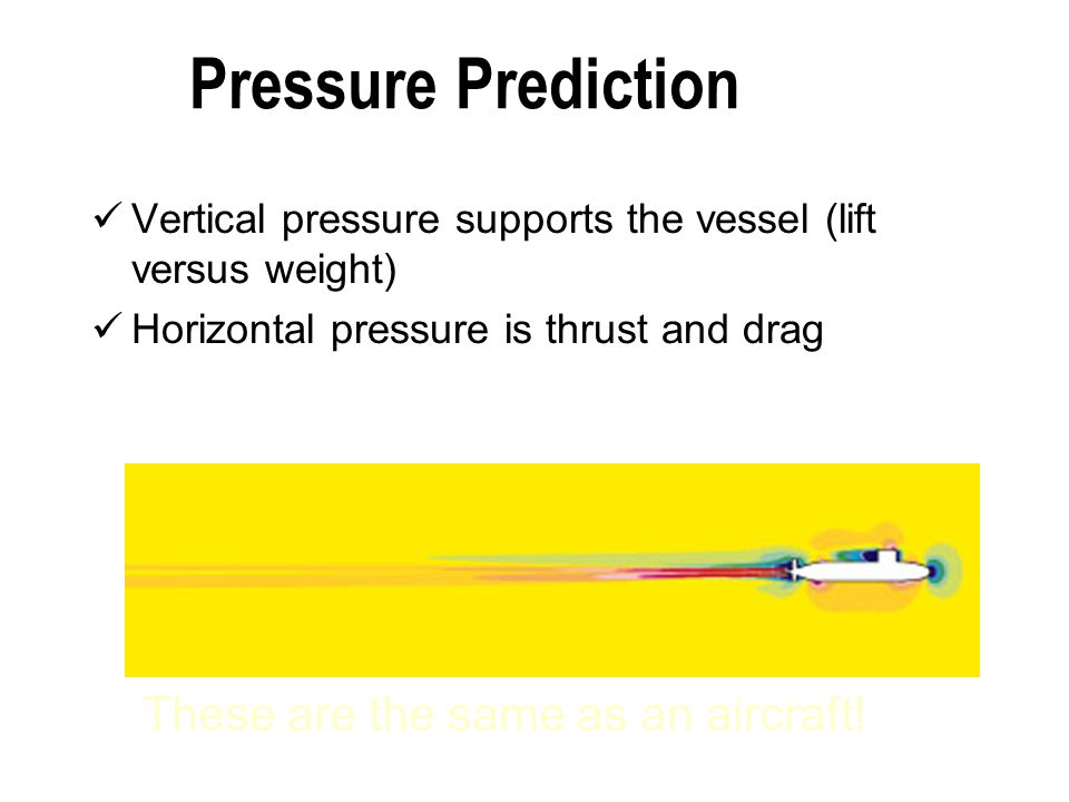 Pressure Prediction These are the same as an aircraft!