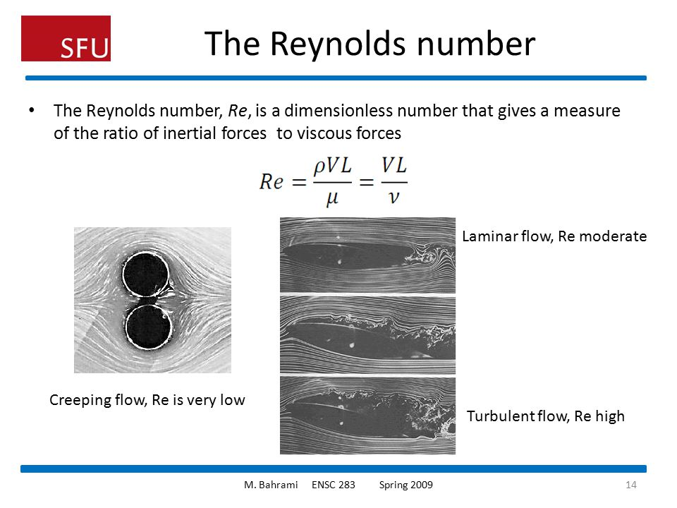 The Reynolds number The Reynolds number, Re, is a dimensionless number that gives a measure of the ratio of inertial forces to viscous forces.