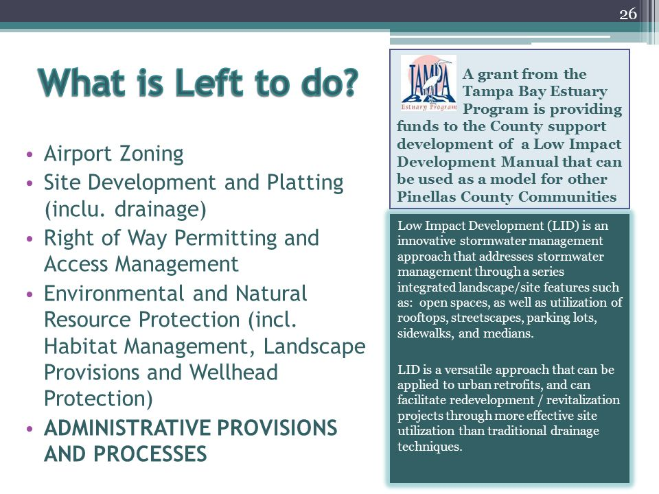 What is Left to do Airport Zoning