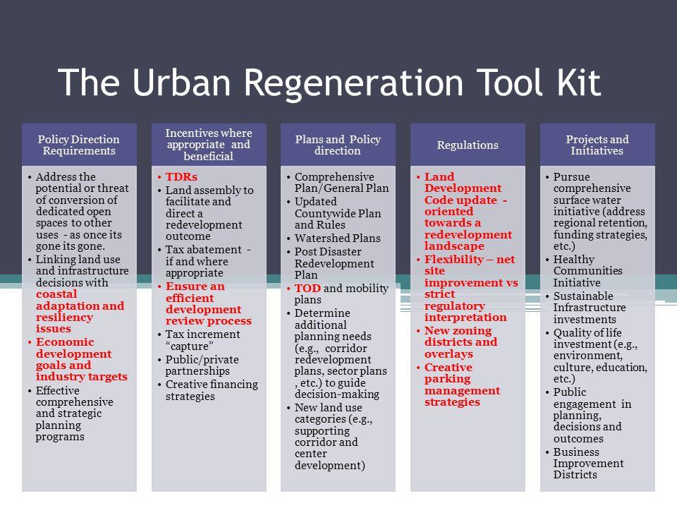 The Urban Regeneration Tool Kit