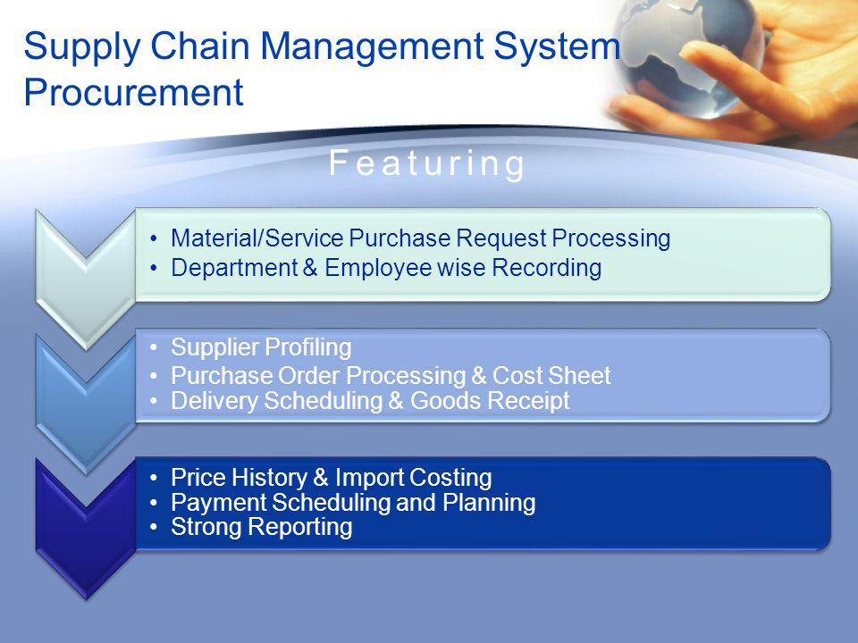 Supply Chain Management System Procurement
