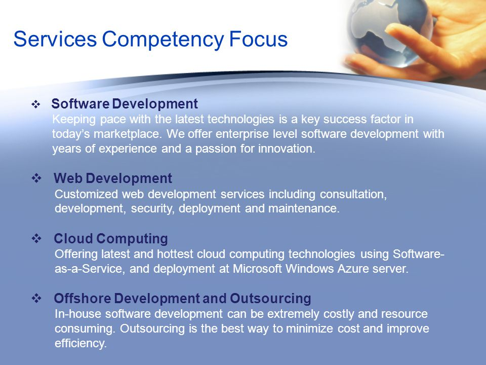 Services Competency Focus