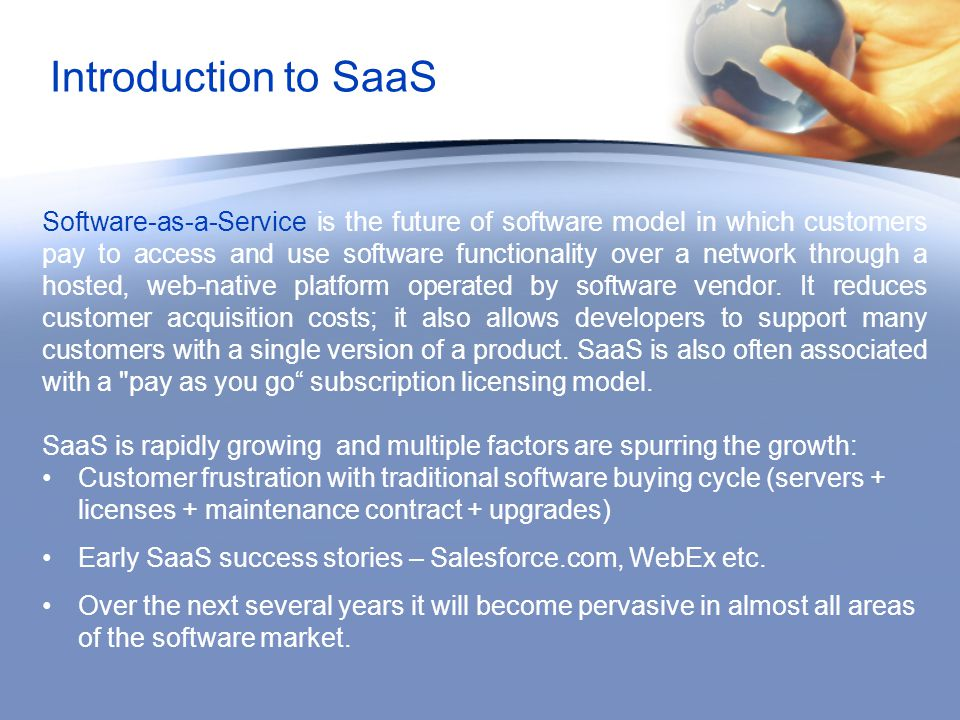 Introduction to SaaS