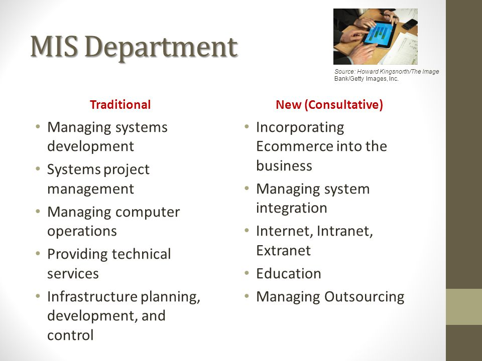 MIS Department Managing systems development Systems project management