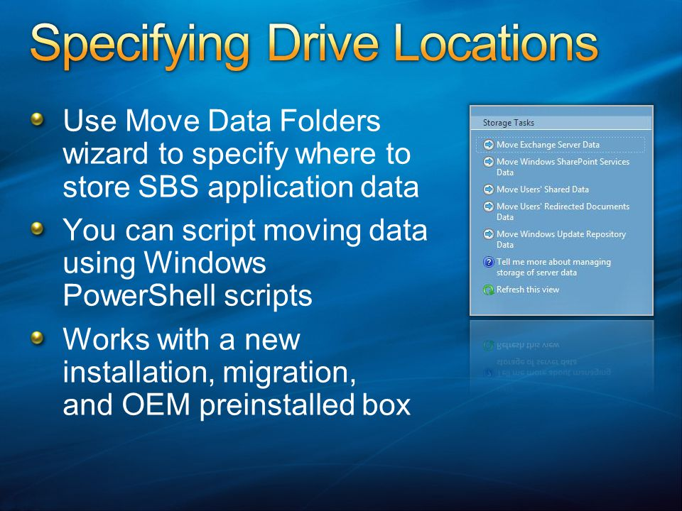 Specifying Drive Locations