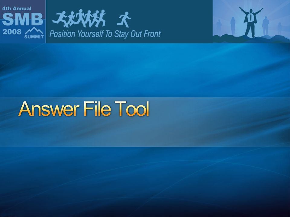 Answer File Tool