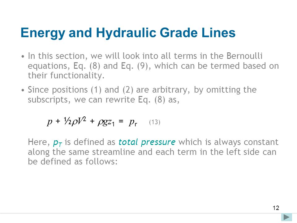 Energy and Hydraulic Grade Lines