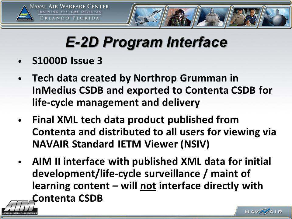 E-2D Program Interface S1000D Issue 3