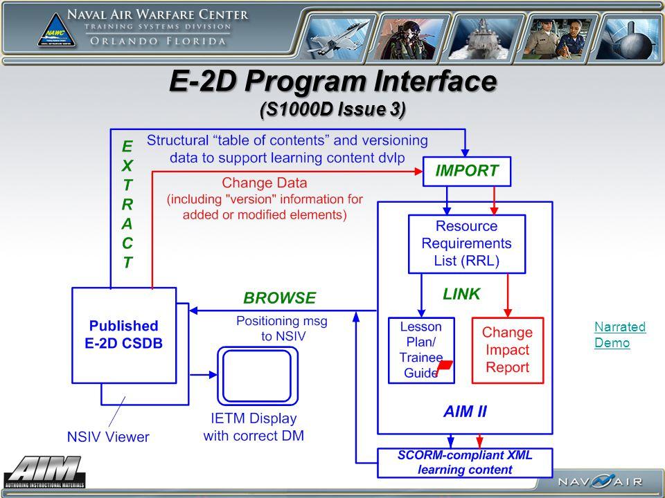 E-2D Program Interface (S1000D Issue 3)