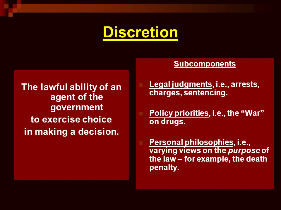 The lawful ability of an agent of the government