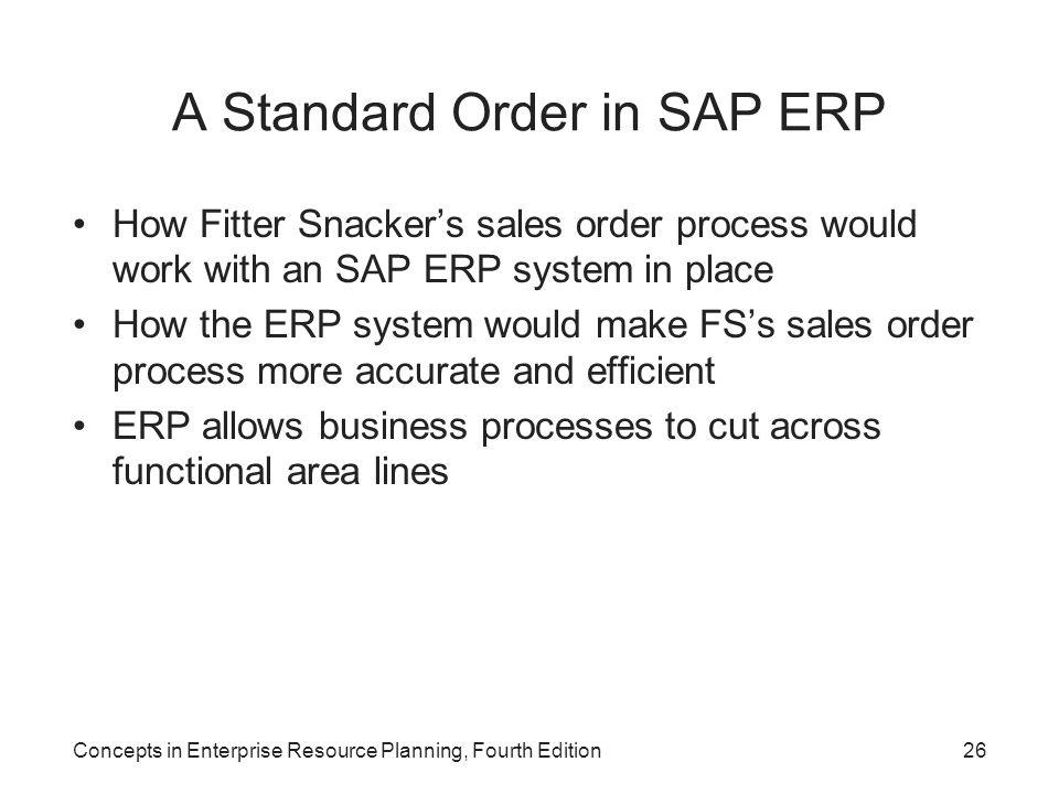 A Standard Order in SAP ERP