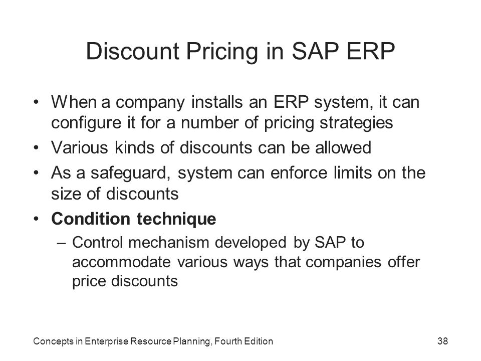 Discount Pricing in SAP ERP