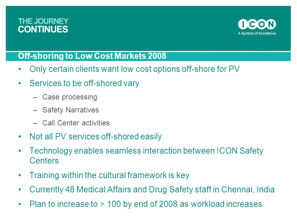 Off-shoring to Low Cost Markets 2008