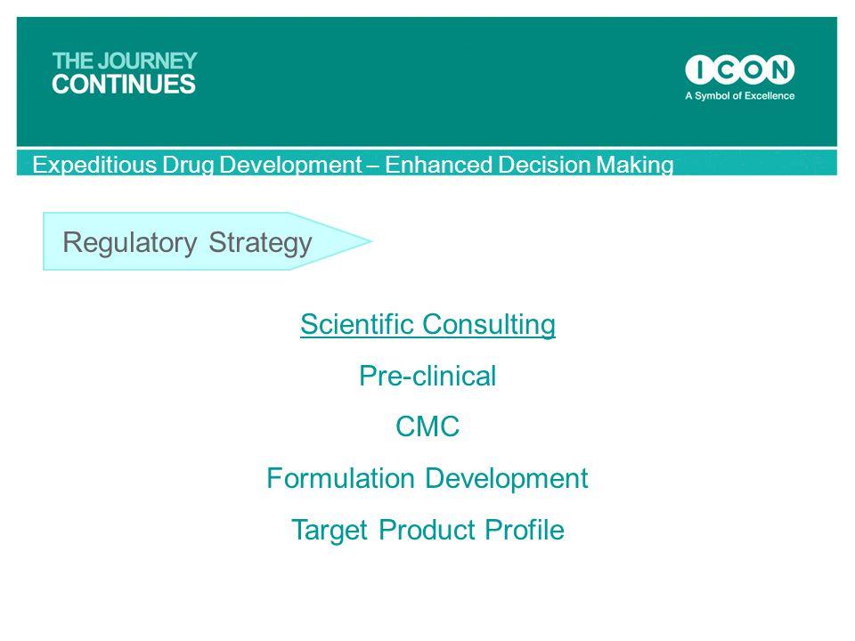 Scientific Consulting Pre-clinical CMC Formulation Development